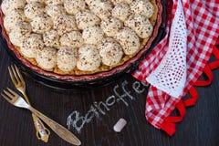 Banoffee饼 免版税库存图片