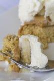 Banoffee-Torte - nahes hohes Lizenzfreies Stockfoto