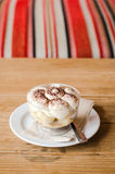 Banoffee on wood table Stock Image