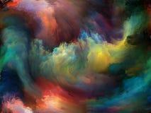 Banor av målarfärg Arkivbilder