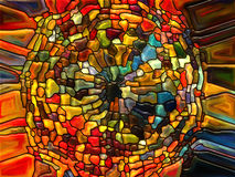 Banor av målat glass Arkivfoton