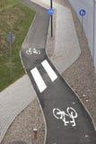 Banor för människa och cyklar Arkivfoto