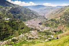 Banos De Água Santa Nee Aerial Shot imagem de stock