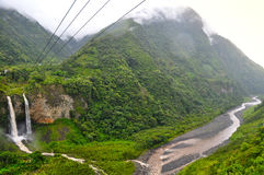Banos de Agua Jultomten, Ecuador royaltyfria bilder