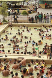 Banos de Agua Santa καυτές ανοίξεις στοκ εικόνα με δικαίωμα ελεύθερης χρήσης