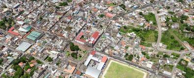 Banos De Agua Santa Aerial Panorama Imágenes de archivo libres de regalías