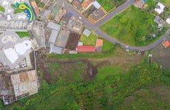 Banos De Agua Santa Aerial Panorama, Ecuador Imágenes de archivo libres de regalías