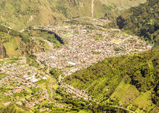 Banos De Agua Santa Aerial Shot Fotografía de archivo libre de regalías