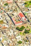 Banos De Agua Santa centrum miasta anteny strzał Zdjęcie Stock