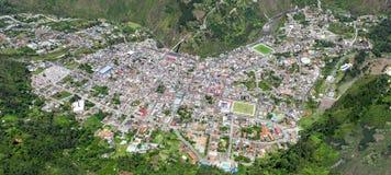Banos De Agua Santa City Aerial Shot Stock Image