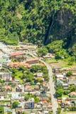 Banos De Agua Santa City Center Aerial Shot Immagine Stock