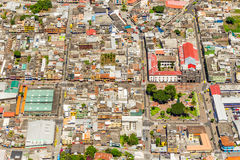 Banos De Agua Santa City Center Aerial Shot lizenzfreie stockbilder
