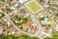 Banos De Agua Santa City Center Aerial Shot Imagen de archivo