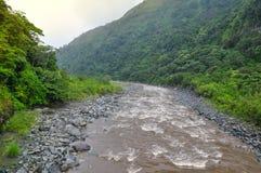 Banos de Agua Santa, Ecuador. River in Banos de Agua Santa, Ecuador stock image