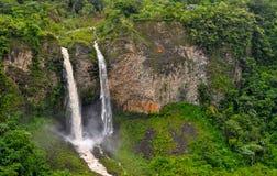 Banos de Agua Santa, Ecuador. Waterfall Manto de la Novia in Banos de Agua Santa, Ecuador Royalty Free Stock Image