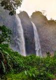 Banos de Agua Santa, Ecuador. Waterfall Manto de la Novia in Banos de Agua Santa, Ecuador stock image