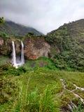 Banos de Agua Santa, Ecuador. Waterfall Manto de la Novia in Banos de Agua Santa, Ecuador stock photography