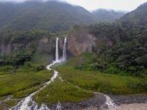 Banos de Agua Santa, Ecuador. Waterfall Manto de la Novia in Banos de Agua Santa, Ecuador stock photos