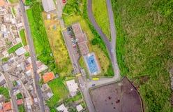 Banos De Agua Santa Latin American City, vista aerea, Ecuador Fotografia Stock