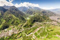 Banos De Agua Santa Ne Aerial Shot Stockbilder
