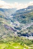 Banos De Agua Santa Valley Aerial Shot Immagine Stock