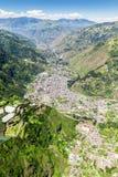 Banos De Agua Santa Wide Angle Aerial Shot Fotografía de archivo libre de regalías