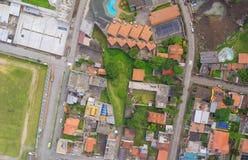 Banos De Agua Santa widok z lotu ptaka, Ekwador Zdjęcia Royalty Free