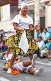 Banos de Aqua Santa, Tungurahua, Ισημερινός, indigenuous γυναίκα Στοκ Εικόνες