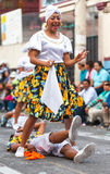 Young Latin Couple Dancing In The Street Stock Photo