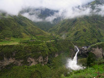 Banos Waterfall. Waterfall in cloud forest near Banos, Ecuador Stock Image