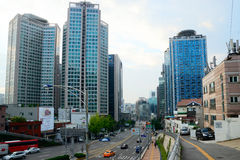 Banpo-ro Street in Downtown Seoul, Korea stock photos