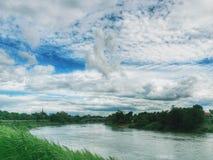 Banpong flod Arkivfoton