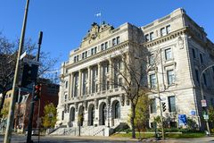 BAnQ Vieux-Montréal, altes Montreal, Quebec, Kanada Lizenzfreie Stockfotografie