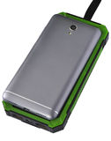 Banque d'énergie verte de téléphone portable d'isolement Photos stock