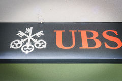 Banque d'UBS Photos libres de droits