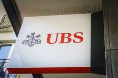 Banque d'UBS Image libre de droits