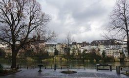 Banque de Bâle - Rhein Photographie stock libre de droits