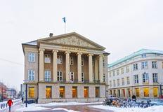 Banque de Danske à Copenhague en hiver Photos stock