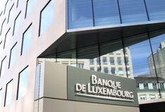 Banque de Luxembourg Fotos de Stock
