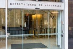 Banque de réserves de l'entrée principale d'Australie photos libres de droits