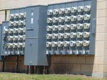 Banque des mètres électriques Photo stock