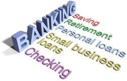 Banque enregistrant des services aux entreprises financiers Images stock