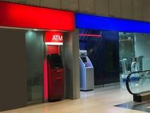 Banque opposée de station rouge et bleue d'atmosphère photographie stock libre de droits