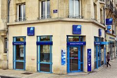 Banque Populaire分支  库存照片
