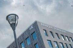 Banque Populaire的总部的外部门面在牟罗兹 免版税库存图片