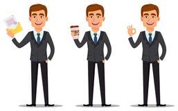 Banqueiro considerável no terno de negócio ilustração royalty free