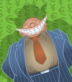 Banquero gordo malvado Imágenes de archivo libres de regalías