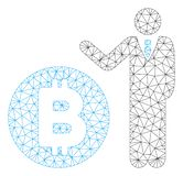 Banquero Vector Mesh Wire Frame Model de Bitcoin libre illustration