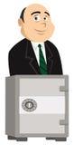 Banquero y caja fuerte stock de ilustración