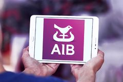 Banques d'Allied Irish, logo d'AIB Photographie stock